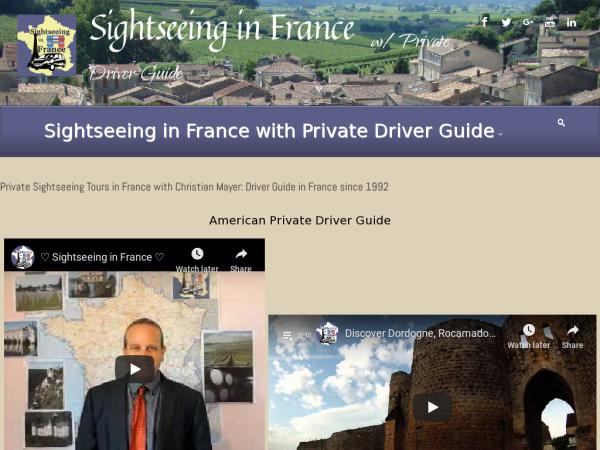 Sightseeing in France with Private driver-guide - Private Sightseeing Tours in France, Sightseeing in France, Private Driver Guide France